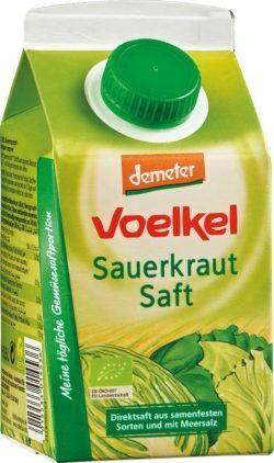 Voelkel Sauerkrautsaft - Direktsaft aus samenfesten Sorten und mit Meersalz 6x0,5l