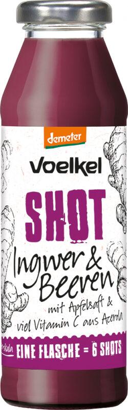 Voelkel Shot Ingwer & Beeren mit Vitamin C aus Acerola 6x0,28l