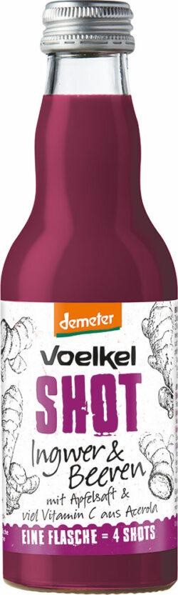 Voelkel Shot Ingwer & Beeren mit Vitamin C aus Acerola 12x0,2l