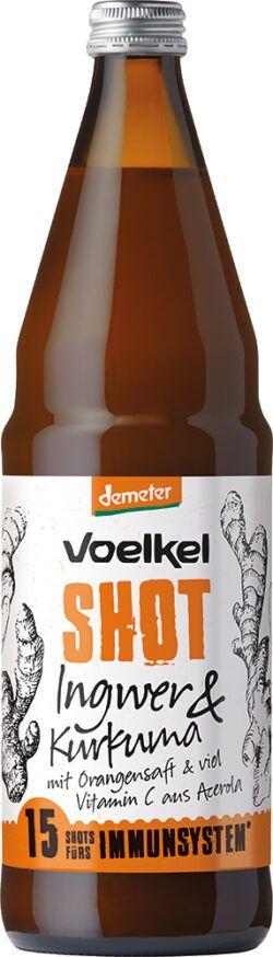 Voelkel Shot Ingwer & Kurkuma mit Orangensaft & viel Vitamin C aus Acerola 0,75l