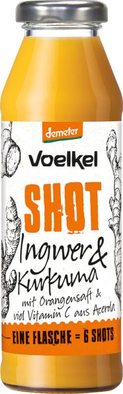 Voelkel Shot Ingwer & Kurkuma mit Orangensaft & viel Vitamin C aus Acerola 0,28l