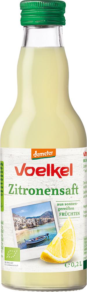 Voelkel Zitronensaft aus sonnengereiften FRÜCHTEN 12x0,2l