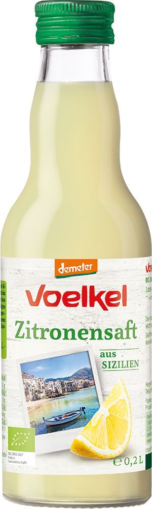 Voelkel Zitronensaft aus sonnengereiften FRÜCHTEN 0,2l