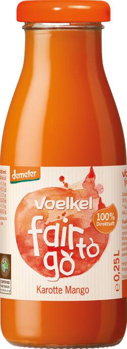 Voelkel fair to go - Karotte Mango - 100% Direktsaft 6x0,25l