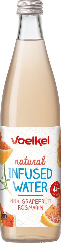 Voelkel natural Infused water Grapefruit Rosmarin 10x0,5l