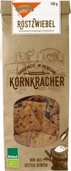 Kornkracher Handgemacht Im Wend Bio Kornkracher Röstzwiebel Single Pack 10x150g
