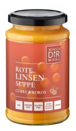 Wünsch Dir Mahl Rote Linsensuppe Curry & Kokos 8x380g