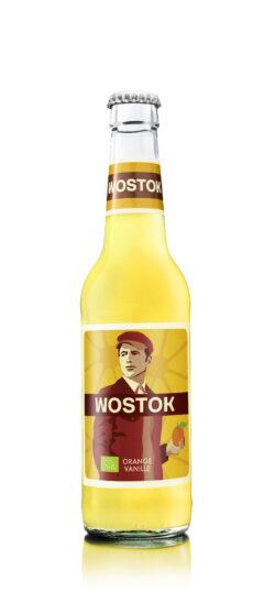 WOSTOK Bio Orange-Vanille, Kohlensäurehaltiges Erfrischungsgetränk, 330ml MW/Glas 24x330ml