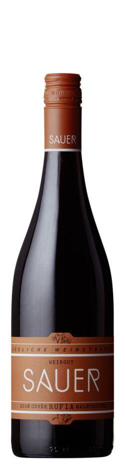 Weingut Sauer RUFIA Rotwein halbtrocken 0,75l