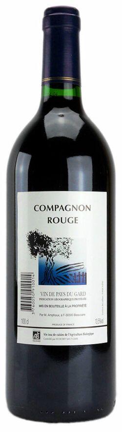 Weinhandel Wolfram Lambrecht COMPAGNON ROUGE IGP Vin de Pays du Gard, Domaine de Tavernel, Erzeugerabfüllung 1l