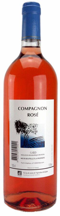 Weinhandel Wolfram Lambrecht COMPAGNON ROSÉ IGP Vin de Pays du Gard, Domaine de Tavernel, Erzeugerabfüllung 1l