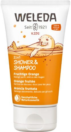 Weleda Kids 2in1 Shower & Shampoo Fruchtige Orange 150ml