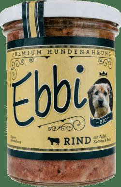 Wuff & Mau Heimtiernahrung Ebbi Bio Rind Hundefutter 8x400g