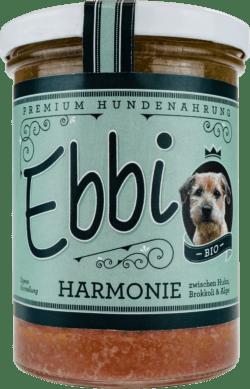 Wuff & Mau Heimtiernahrung Ebbi Bio Harmonie Hundefutter 8x400g