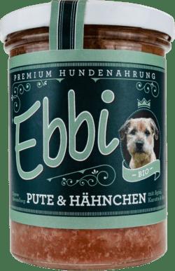 Wuff & Mau Heimtiernahrung Ebbi Bio Pute & Hähnchen Hundefutter 8x400g