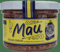 Wuff & Mau Heimtiernahrung  Mau Bio Geiles Fressi Katzennahrung 16x200g