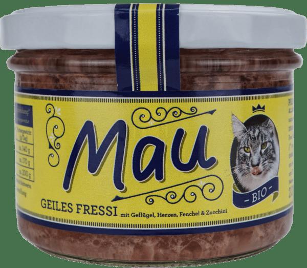 Wuff & Mau Heimtiernahrung Mau Bio Geiles Fressi Katzennahrung 200g