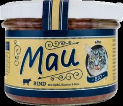 Wuff & Mau Heimtiernahrung  Mau Bio Rind Katzennahrung 16x200g