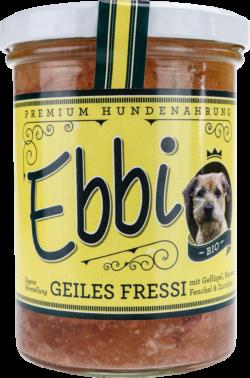 Wuff & Mau Heimtiernahrung  Ebbi Bio Geiles Fressi Hundefutter 8x400g