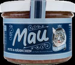Wuff & Mau Heimtiernahrung  Mau Bio Pute & Hähnchen Katzennahrung 16x200g