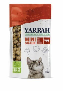 Yarrah Organic Petfood B.V. Bio Katze Snack getreidefrei Mini-Snacks 10x50g