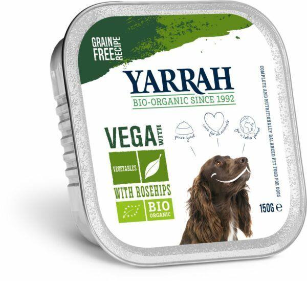 Yarrah Organic Petfood B.V. BIO vega Bröckchen mit Gemüse und Hagebutte 12x150g