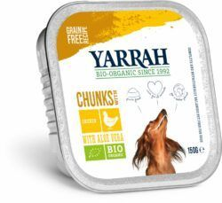 Yarrah Organic Petfood B.V. Bio Bröckchen Huhn und Meeresalge in Soße 12x150g