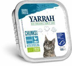 Yarrah Organic Petfood B.V. Bio Katze Schale Bröckchen getreidefrei Fisch (MSC) 16x100g