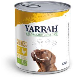 Yarrah Organic Petfood B.V. Bio Hund Bröckchen Huhn mit Brennnessel&Tomate 6x820g
