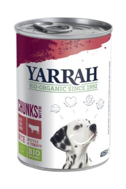 Yarrah Organic Petfood B.V. Bio Hund Bröckchen Rind in Soße mit Brennnessel&Tomate 12x405g