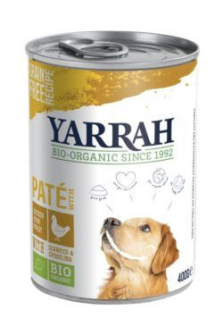 Yarrah Organic Petfood B.V. Bio Hund Pate Huhn mit Spirulina & Seetang 12x400g