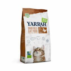 Yarrah Bio Katze Trockenfutter getreidefrei Huhn & Fisch (MSC) – auch für Kätzchen 4x2,4kg