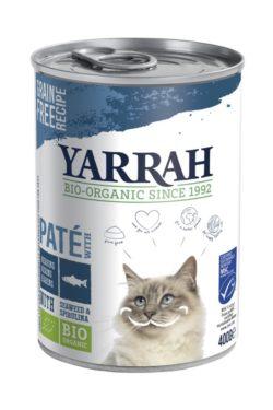 Yarrah Organic Petfood B.V. Bio Katzen Paté Fisch mit Spirulina & Seetang 12x400g