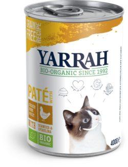 Yarrah Organic Petfood B.V. Bio Katzen Paté Huhn mit Spirulina & Seetang 12x400g