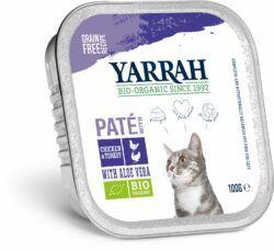 Yarrah Organic Petfood B.V. Bio Katze Schale Pastete getreidefrei Huhn & Truthahn 16x100g