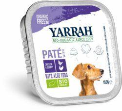 Yarrah Organic Petfood B.V. Bio Paté Huhn und Truthahn mit Aloe Vera 12x150g