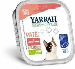Yarrah Organic Petfood B.V. Bio Katze Schale Pastete getreidefrei Lachs (MSC) 16x100g