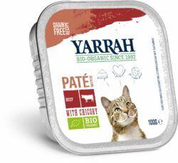 Yarrah Organic Petfood B.V. Bio Katze Schale Pastete getreidefrei Rind 16x100g