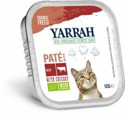 Yarrah Organic Petfood B.V. Bio Paté Rind mit Zichorie 16x100g