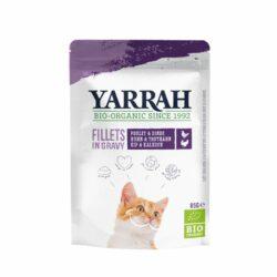 Yarrah Katzen Bio Pouch Filets mit Truthahn in soße 14x85g