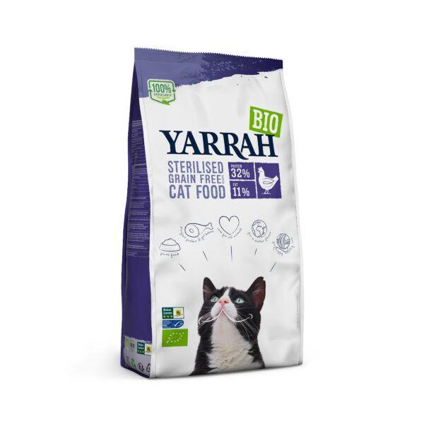 Yarrah Organic Petfood B.V. Bio Katze Trockenfutter getreidefrei für sterilisierte Katze Huhn & Fisch (MSC) 6x700g