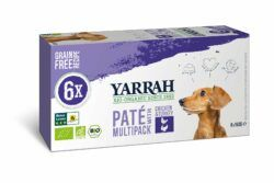 Yarrah Organic Petfood B.V. Bio Hund Schale Multipacks Pastete getreidefrei Huhn & Truthahn 4x900g