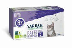 Yarrah Organic Petfood B.V. Bio Katze Schalen Multipack Pastete getreidefrei Huhn & Truthahn 8x800g