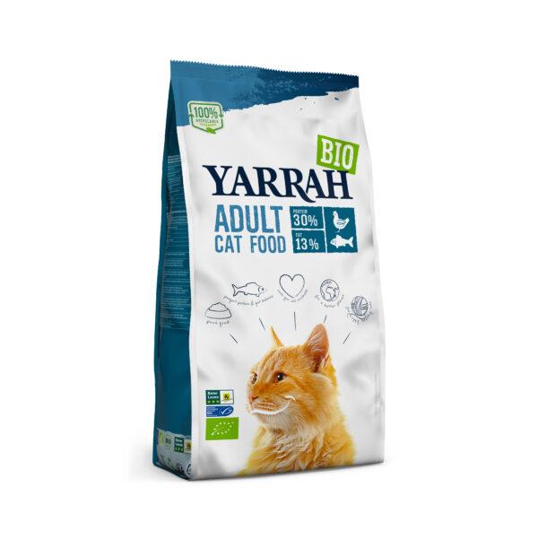Yarrah Organic Petfood B.V. Bio Katze Trockenfutter Huhn & Fisch (MSC) 10kg