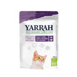 Yarrah Organic Petfood B.V. Katzen Bio Pouch Filets mit Truthahn in soße 14x85g