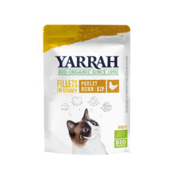 Yarrah Organic Petfood B.V. Katzen Bio Pouch Filets mit Huhn in soße 14x85g