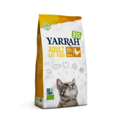 Yarrah Organic Petfood B.V. Bio Katze Trockenfutter Huhn 4x2,4kg