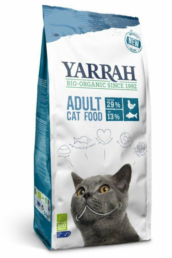Yarrah Organic Petfood B.V. Katzentrockenfutter mit MSC Hering 4x2,4kg