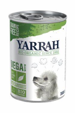 Yarrah Organic Petfood B.V. Bio Hund Dose Bröckchen vegetarisch mit Preiselbeeren 12x380g