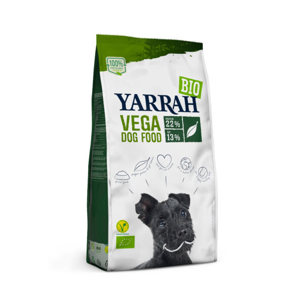 Yarrah Organic Petfood B.V. Bio Hund Trockenfutter Erwachsene vegetarisch Affenbrotbaum & Kokosöl 4x2kg